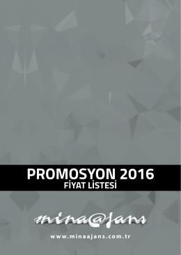 2016 Fiyat Listesi