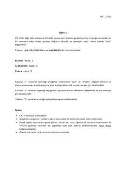 09.11.2015 ÖDEV-1 Çift Yönlü Bağlı Liste kullanarak Öncelikli