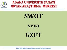 SWOT GZFT - Adana ÜSAM
