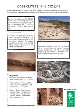 Göbeklitepe Tarih Ödev kopya