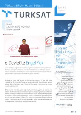 Türksat Bilişim Haber Bülteni Sayı 2 Kasım 2015