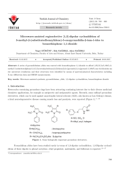 Microwave-assisted regioselective [1,3]-dipolar