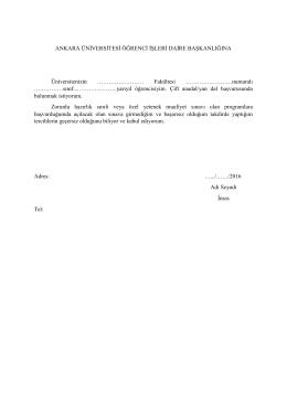 Fakültesi - Öğrenci İşleri Daire Başkanlığı