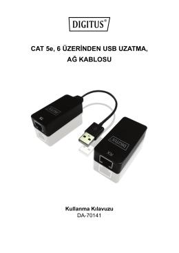 CAT 5e, 6 ÜZERİNDEN USB UZATMA, AĞ KABLOSU Kullanma