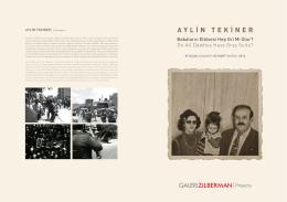 AYLİN TEKİNER - Galeri Zilberman