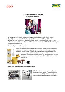 IKEA`dan IKEA`dan evlenecek çiftlere, ev kurma rehberi…