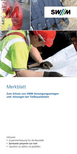 leitungen bei Tiefbauarbeiten - SWM Infrastruktur Region GmbH