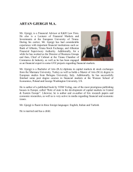 ARTAN GJERGJI M - K & H Law Firm