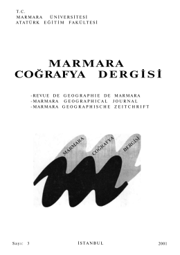 Okumak İçin Tıklayınız - Marmara Coğrafya Dergisi