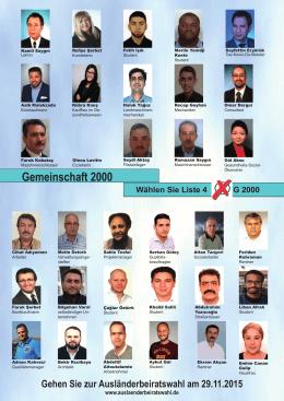 Gemeinschaft 2000 - Arbeitsgemeinschaft der Ausländerbeiräte in