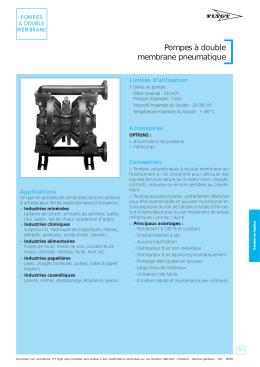 Pompes à double membrane pneumatique