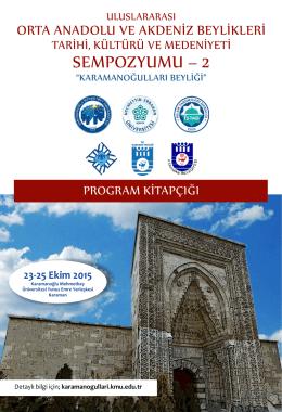 Sempozyum Programı - Uluslararası Orta Anadolu ve Akdeniz