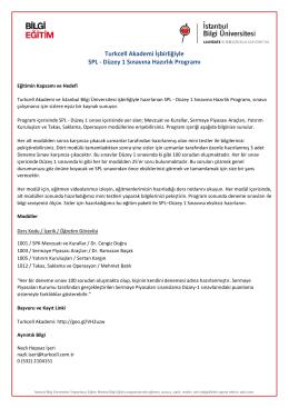 Turkcell Akademi İşbirliğiyle SPL - Düzey 1 Sınavına