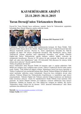 kayserihaber arşivi 23.11.2015–30.11.2015 - Kayham