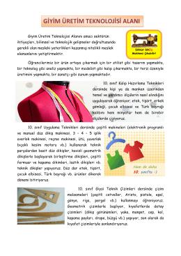 Giyim Üretim - Turgut Reis Mesleki ve Teknik Anadolu Lisesi