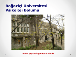 Undergraduate - Psychology