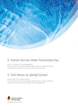 5. Türk-Alman Su İşbirliği Günleri