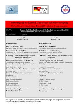 Herbsttagung der Deutsch-Türkischen Juristenvereinigung Türk