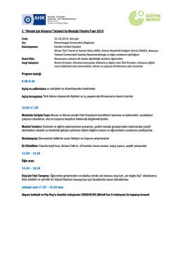 Mesleğe Yönelim 2015 Fuar Programı