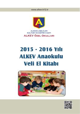 Anaokulu Veli El Kitabı 2016