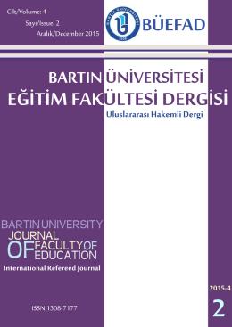 Bu PDF dosyasını indir - bartın üniversitesi eğitim fakültesi dergisi