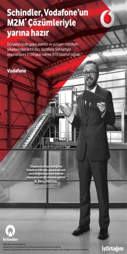 Schindler, Vodafone`un M2M* Çözümleriyle yarına hazır