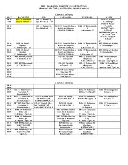 2015-2016 güz ders programı sadece bologna 01102015 saat1400