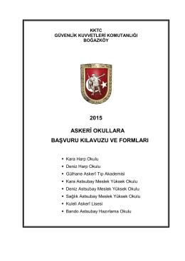 2015 ASKERÎ OKULLARA BAġVURU KILAVUZU VE FORMLARI