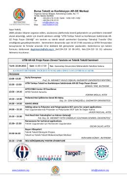 UTİB AR-GE Proje Pazarı Zirvesi Tanıtımı ve Teknik Tekstil Semineri