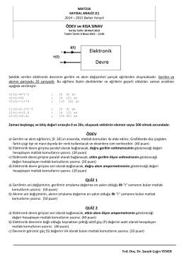 Ödev ve Kısa Sınav