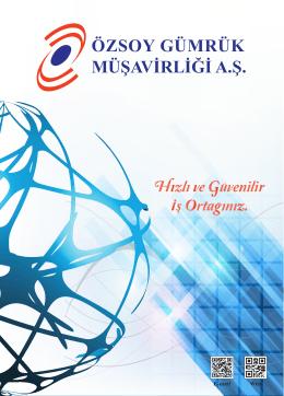 Online Katalog - Özsoy Gümrük Müşavirliği A.Ş.
