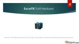 Yılbaşı Hediyesi Excel E-Book