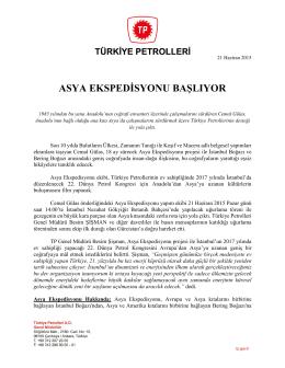 21.06.2015 asya ekspedısyonu baslıyor