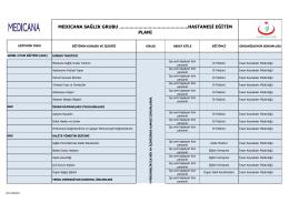 hastanesi eğitim planı - Medicana Sağlık Grubu