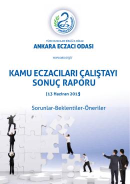 Kamu Eczacıları Çalıştayı Sonuç Raporu
