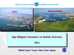 Ege Bölgesi Limanları ve Sektör Durumu