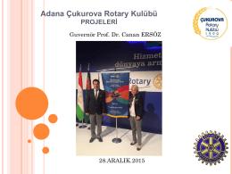 Adana Çukurova Rotary Kulübü PROJELERİ