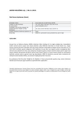EBRD`nin Yenilenebilir Enerji Şirketlerimize Yatırım İlgisi