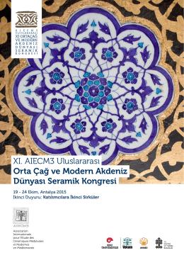 XI. AIECM3 Uluslararası Orta Çağ ve Modern Akdeniz Dünyası