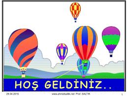 HOŞ GELDİNİZ.. - Prof. Dr. Ahmet SALTIK