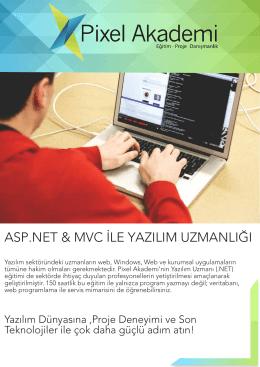 asp.net & mvc ile yazılım uzmanlığı