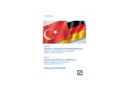 Deutsch-Türkisches Wirtschaftsforum Alman-Türk Ekonomi - TD-IHK