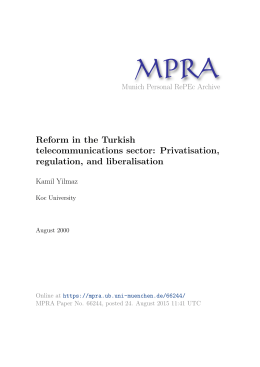 Reform in the Turkish telecommunications sector: Privatisation