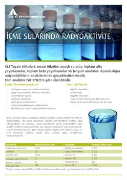 içme sularında radyoaktivite