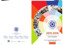 2015-2016 - İstanbul Aydın Üniversitesi