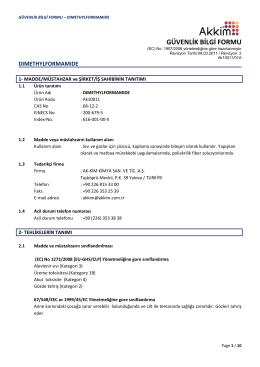 DIMETHYLFORMAMIDE - CLP MSDS-TR