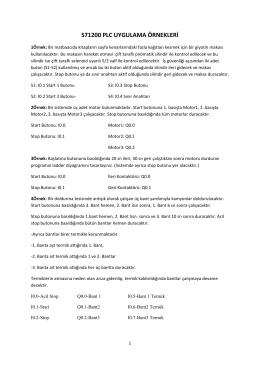 s71200 plc uygulama örnekleri