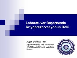 Laboratuvar Başarısında Kriyoprezervasyonun Rolü