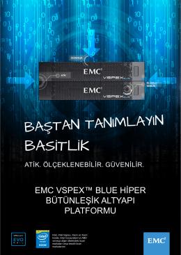 EMC VSPEX Blue Hiper Bütünleşik Altyapı Platformu