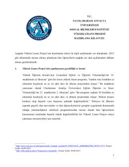 TC ULUSLARARASI ANTALYA ÜNİVERSİTESİ SOSYAL BİLİMLERİ